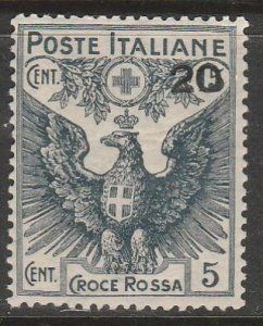 Italy B4, 20¢ ON 15¢+5¢ SURCHARGED SEMI-POSTAL. MINT, NH. VF. (108)