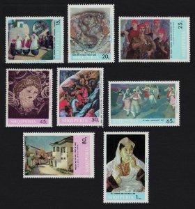 Albania Paintings 8v issue 1967 SG#1161-1168 CV£10+