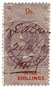 (I.B) New Zealand Revenue : Stamp Duty 9/-
