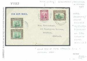 NORTH BORNEO & SARAWAK *BMA* Mixed Franking Cover 1947 Scotland {samwells}Y193