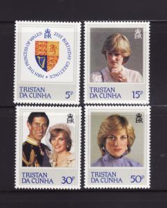 Tristan Da Cunha 310-313 Set MNH Princess Diana