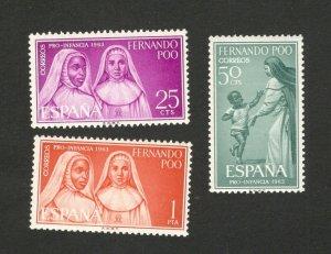 SPAIN - FERNANDO POO ESPAÑA -MNH SET -SPAIN - 1963.