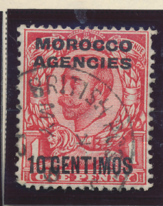 Great Britain, Offices In Morocco Stamp Scott #64, Used - Free U.S. Shipping,...