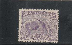 French Guiana  Scott#  59  MH  (1905 Great Anteater)