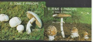 St. Thomas & Prince Islands Used 2-S/S Mushrooms WOW!!!!