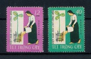 Vietnam 1962 MNH Stamps Scott 188-189 Tree Planting Festival New Year