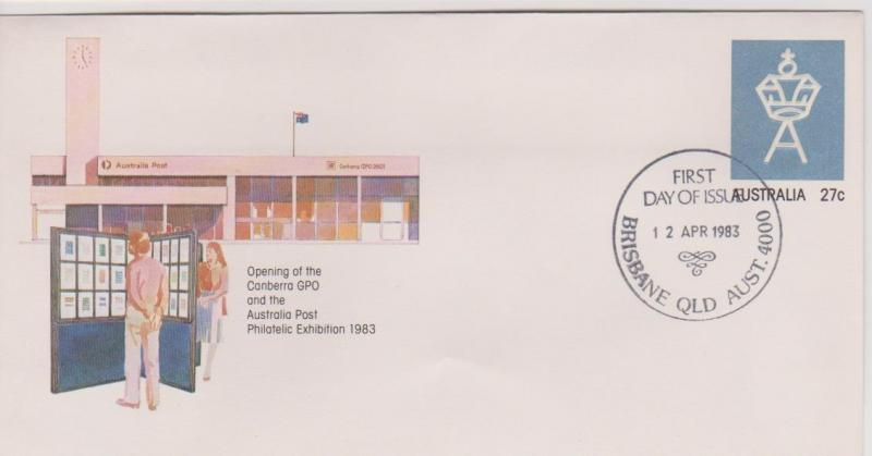 Australia 1983 Canberra GPO Pre-stamped Envelope First Day of Issue