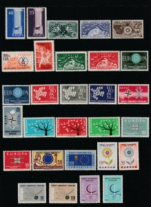 Turkey a MNH lot of mainly pairs Europa or NATO