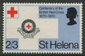 STAMP STATION PERTH St Helena #239 Cent, of British Red Cross 1970 MNH