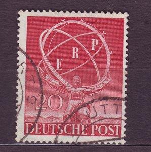 J23178 JLstamps 1950 berlin germany set of 1 used #9n68 staue of atlas