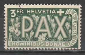 SWITZERLAND 1945 PEACE 3FR USED
