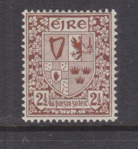 IRELAND,  1941 watermarked e, 2 1/2d. Red Brown, lhm.