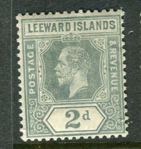 LEEWARD ISLANDS; 1912 early GV issue fine Mint hinged 2d. value,