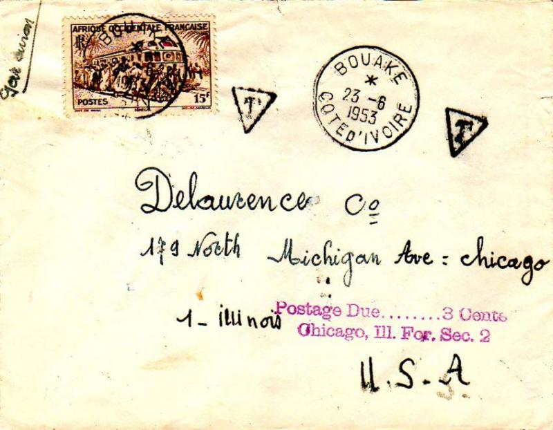 French West Africa 1953 Postal History