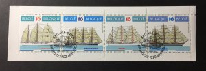 Belgium 1995 #1593a Unfolded booklet, Used/First day cancel