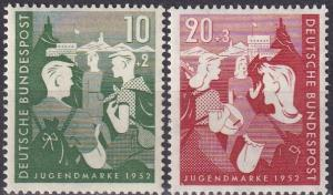 Germany #B325-6  MNH CV $32.50 (A19865)