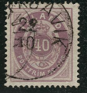 Iceland 1882 Sc#18 Facit 17a Used VF Cat $80...Quality Bargain!