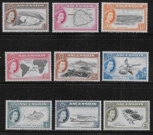 Ascension 62-70 1956 Various SHORT set MNH c.v. $16.95