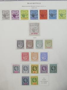 EDW1949SELL : MAURITIUS 1904-10 Scott #128-151 Cplt. All Fresh & VF MOG Cat $290