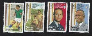 Sierra Leone mnh  sc 519 - 522