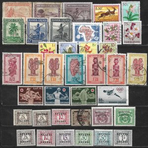 COLLECTION LOT OF 38 RUANDA URUNDI 1931+ STAMPS CLEARANCE