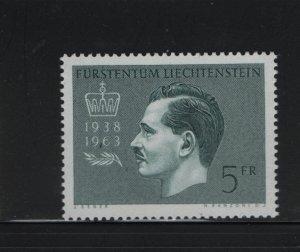 LIECHTENSTEIN 375 MNH, 1963 Prince Franz Joseph II