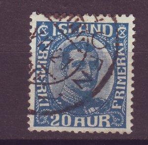 J25515 JLstamps 1920-2  iceland used #118 king