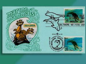 Dual-Cancelled Joint Issue!  U.S. & Russia Swim Together for Marine Mammals Set
