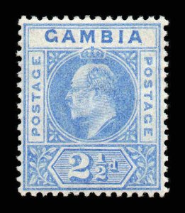 Gambia 1902 EDVII 2½d wmk crown CA SG 48 mint