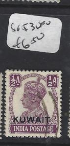 KUWAIT   (P0503B)  ON INDIA KGVI 1/2A  SG 53   VFU
