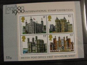 London 53 1/2P 1980 International Stamp Show Sheet – MNH OG