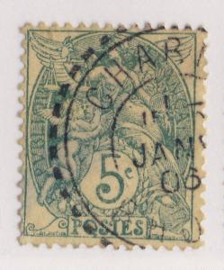 FRANCE - 1906 - CàD FACTEUR-BOÎTIER T.1884  CHARNAY / RHONE  sur n°111