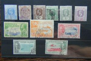 Cayman Islands 1905 2.5d Used 1912 - 1920 6d MM 1950 values to 9d Used