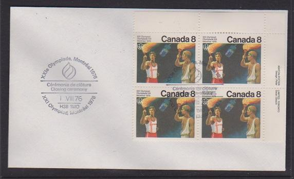 CANADA FDC 1976 OLYMPICS STAMPS #681  LOT#PPJ54