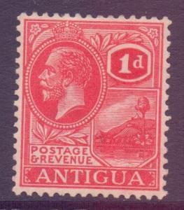 Antigua Scott 43 - SG63, 1921 Script CA 1d Red MH*