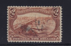 293 VF-XF used neat light cancel with nice color cv $ 1100 ! see pic !