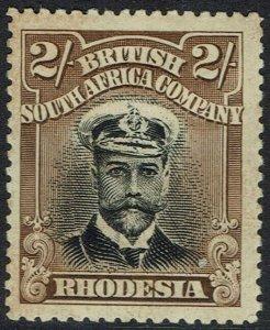 RHODESIA 1913 KGV ADMIRAL 2/- DIE I PERF 15