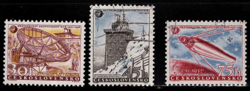 Czechoslovakia Scott 836-838 used stamp set
