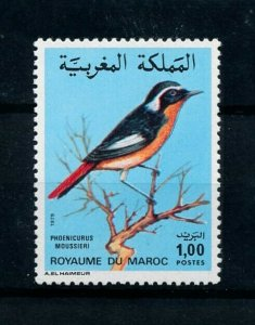 [102180] Morocco 1979 Birds vögel oiseaux moussier redstart From set MNH