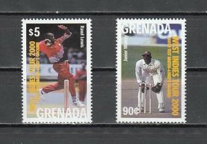 Grenada, Scott cat. 2941-2942. Cricket, Sports issue. ^