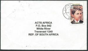 ZAMBIA 2000 commercial cover with GANDHI K1,200 provisional overprint......44243