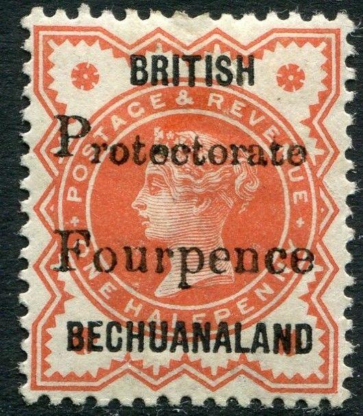 BECHUANALAND-1889 4d on ½d Vermilion Sg 53 MOUNTED MINT V20363
