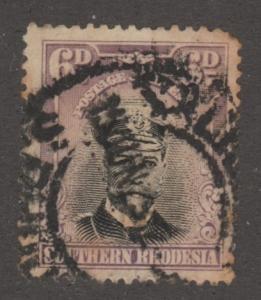 So. Rhodesia, used, Scott# 7, moustache,  #M460