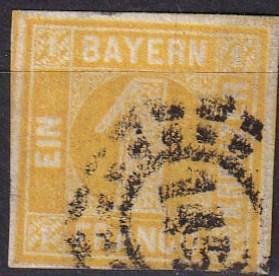 Bavaria #9  F-VF Used CV $20.00  (SU7333)