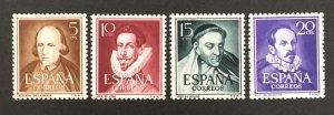 Spain 1950-3 #772-4, Portraits, MNH.