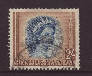 1954 Rhodesia & Nyasaland 2/- Fine Used
