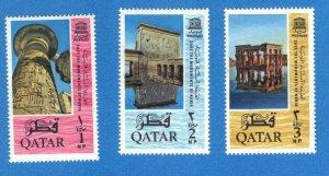 QATAR  SC# 47-49 **MH** 1965   MONUMENTS  SEE SCAN
