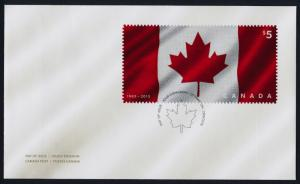 Canada 2808 on FDC -  50th Anniversary of the Canadian Flag