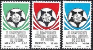 MEXICO Scott 1315-1317 MNH** 1983 Soccer Championship set
