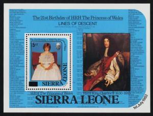 Sierra Leone 722-3 MNH Princess Diana 21st Birthday, Royal Baby o/p